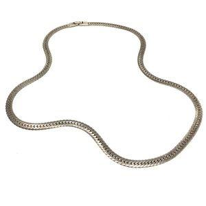 Vintage Sterling Herringbone Chain Necklace